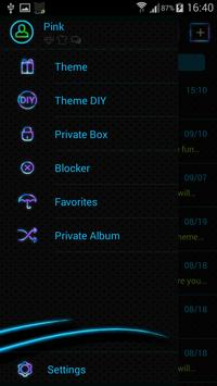 Neon Colors SMS Theme screenshot 5