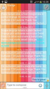 GO SMS New Year screenshot 2