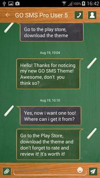 Back to School SMS Theme apk screenshot
