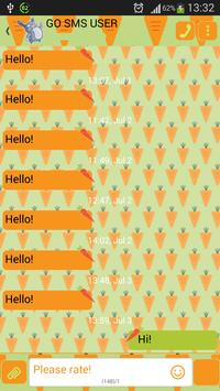 GO SMS Carrots Theme poster