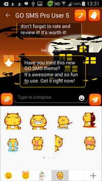 SMS Halloween Theme apk screenshot