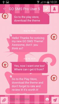 Kitty SMS Theme apk screenshot