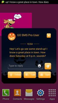 Pumpkin GO SMS poster