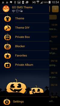 Pumpkin GO SMS apk screenshot