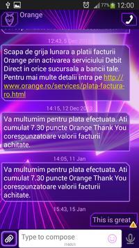 GO SMS Purple Laser apk screenshot
