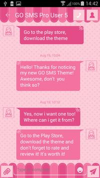 Pink GO SMS Theme apk screenshot