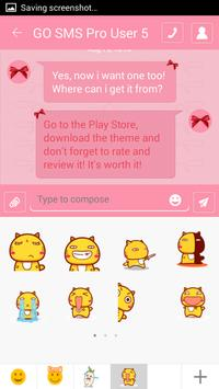 Pink Bow SMS Theme screenshot 2