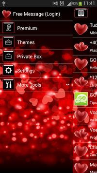 GO SMS Red Heart screenshot 1