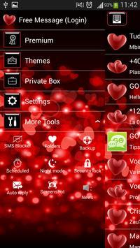 GO SMS Red Heart screenshot 3