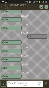 GO SMS Retro apk screenshot