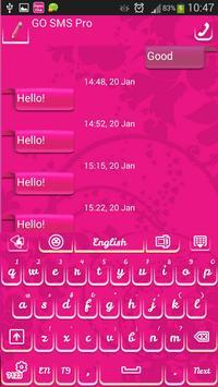 GO SMS Super Pink apk screenshot