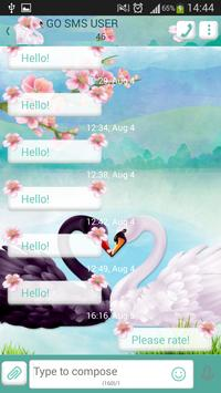 GO SMS Swan apk screenshot