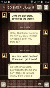 Vintage SMS Theme poster