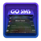 Blue time SMS Art icon