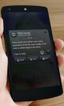 Blue time SMS Art apk screenshot
