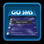 Blue twist SMS Art icon