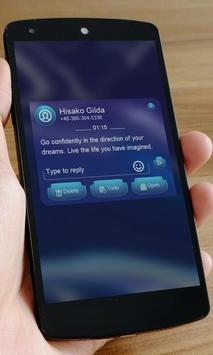 Blue twist SMS Art apk screenshot