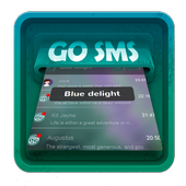 Blue delight SMS Art icon