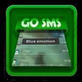Blue emotion SMS Art icon