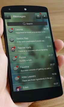 Blue emotion SMS Art apk screenshot