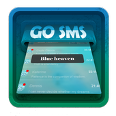 Blue heaven SMS Art icon