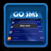 Blue start SMS Art icon