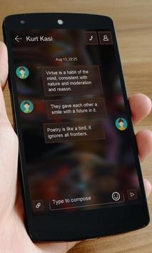 Black hell SMS Art apk screenshot