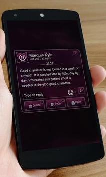 Black SMS Art apk screenshot