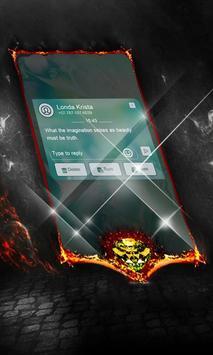 Blue Fresco SMS Cover apk screenshot