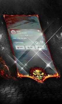 Blue Motif SMS Cover apk screenshot