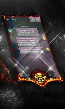 Cosmic purple SMS Cover apk screenshot