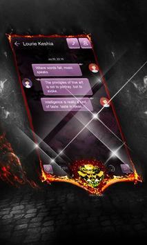 Dark purple SMS Cover apk screenshot