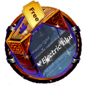 Electric blue SMS Cover icon