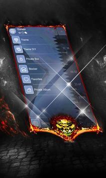 Electric blue SMS Cover apk screenshot