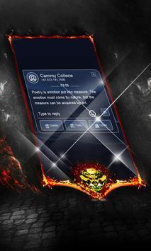 Elegant blue SMS Cover apk screenshot
