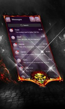 Epic purple SMS Cover apk screenshot