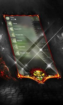 Gothic green SMS Cover apk screenshot