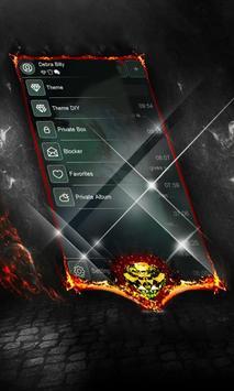 Green clouds SMS Cover apk screenshot