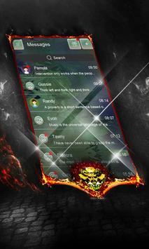 Green crystals SMS Cover apk screenshot