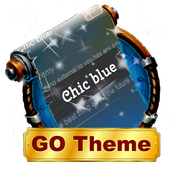 Chic blue SMS Layout icon