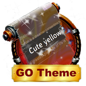 Cute yellow SMS Layout icon