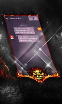 Galactic autumn SMS Layout apk screenshot