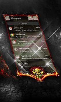 Green clouds SMS Layout apk screenshot