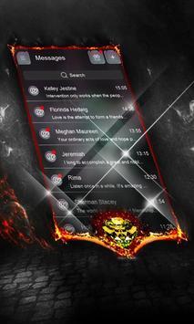 Dark spiral SMS Layout poster