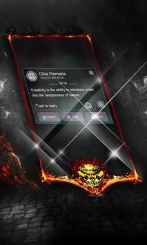Dark spiral SMS Layout apk screenshot