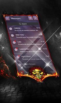 Electric night SMS Layout apk screenshot