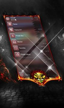 Electric red SMS Layout apk screenshot