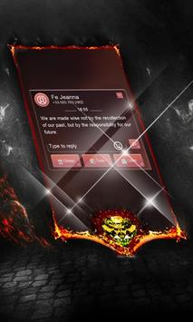 Foggy red SMS Layout apk screenshot