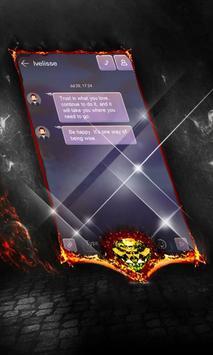 Feel purple SMS Layout apk screenshot