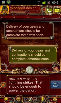 Steampunk GO SMS Theme poster